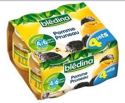 Petits pots pour bébé pommes pruneaux BLEDINA - 2,57 € (4,94€/kg)