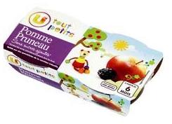 Compote pour bébé pomme pruneaux U TOUT PETITS - 0,99 (4,12€/kg)
